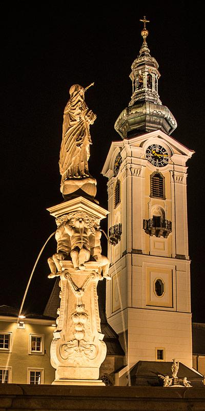 Der Kirchturm von Freistadt