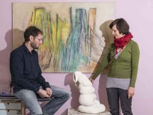 Manfred Wiesinger / Ölbilder & Doris Schmidlechner / Kermikskulpturen