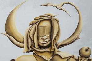 Bogdan Pilato / Das ist mein Apfel / Acryl und Öl auf Leinwand / 2007