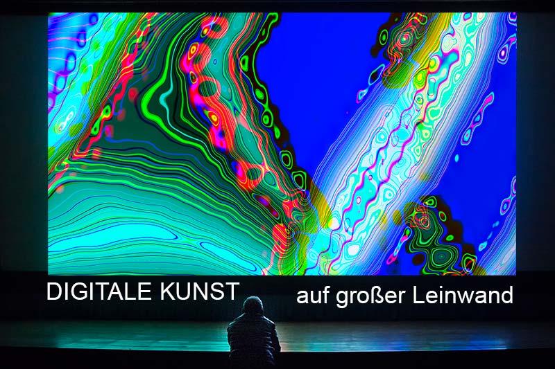 Projekte : digitale Kunst auf großer Leinwand / Poetics &XPressives / Antonia & Burkhard Zimmermann