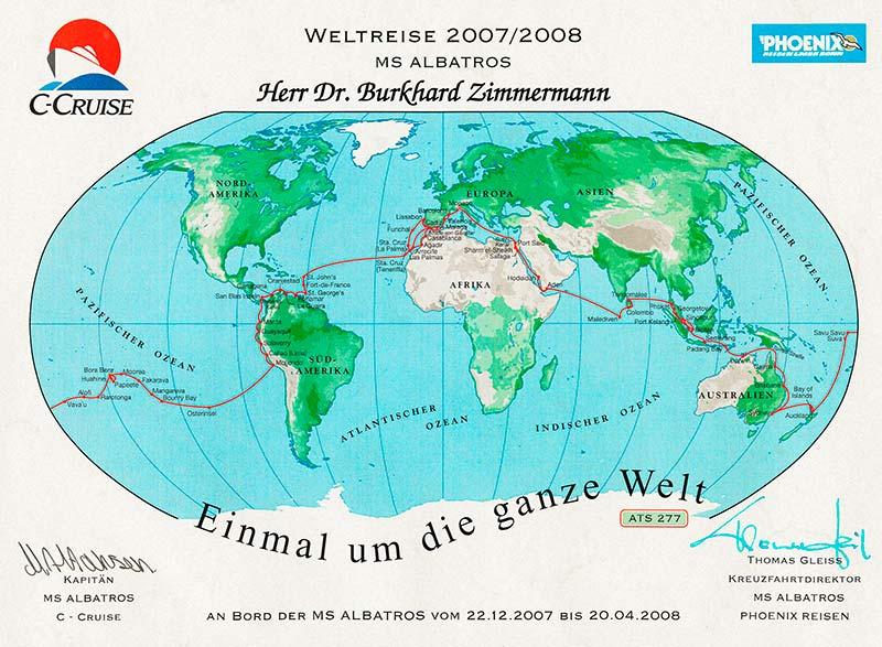 Projekte : einmal um die ganze Welt 2008 /Antonia & Burkhard Zimmermann