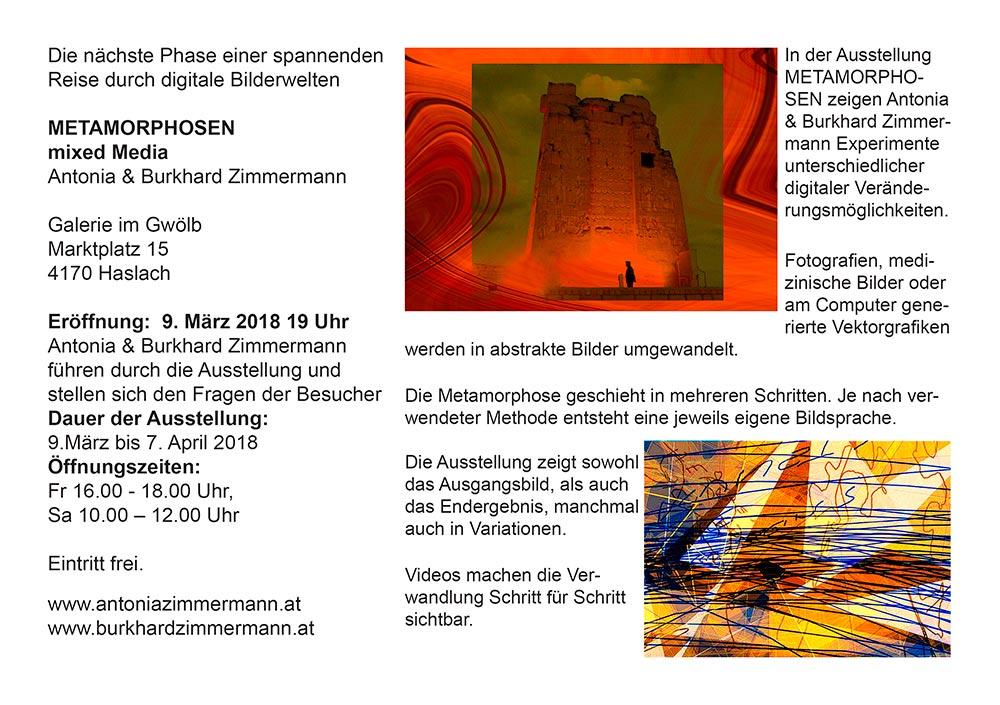 METAMORPHOSEN / Antonia & Burkhard Zimmermann
