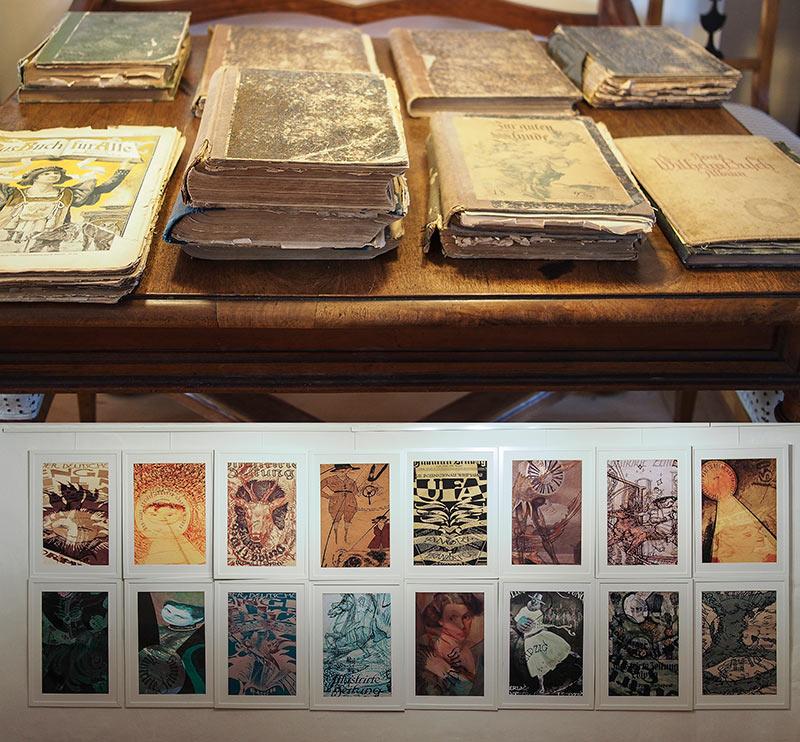 100 Jahre alte Zeitschriftenbilder in die Gegenwart gebracht